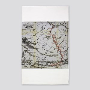 Railroad Map 3'x5' Area Rug