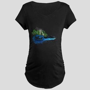 Urban City Arcade Stick Maternity Dark T-Shirt