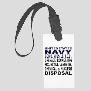 Navy Disposal Large Luggage Tag