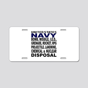 Navy Disposal Aluminum License Plate