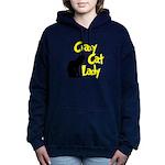 crazy cat lady.png Hooded Sweatshirt