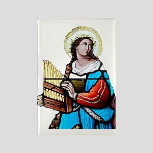 St Cecilia Rectangle Magnet