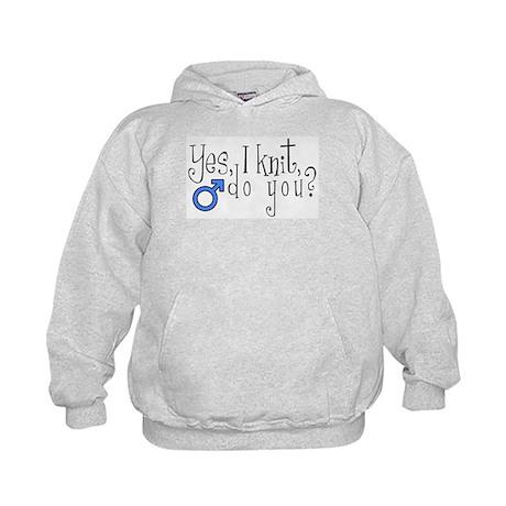 Men Knit Too! Kids Hoodie