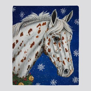 Leopard Appaloosa Christmas Throw Blanket