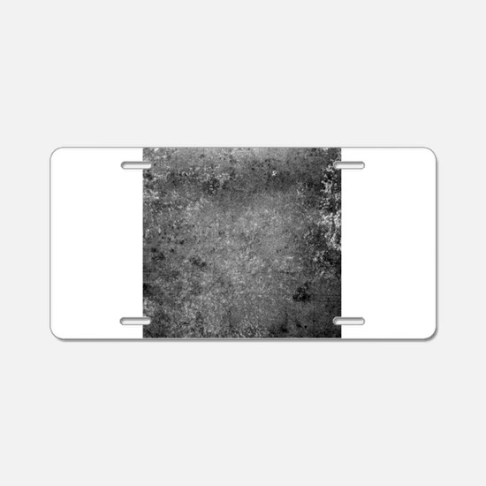 Worn Graph 6 Aluminum License Plate