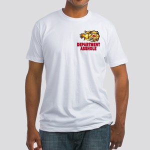 Fire Department Asshole Fitted T-Shirt