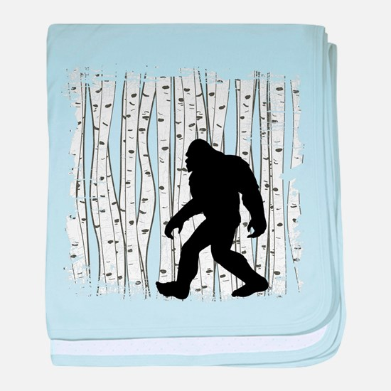 Bigfoot In Birch baby blanket