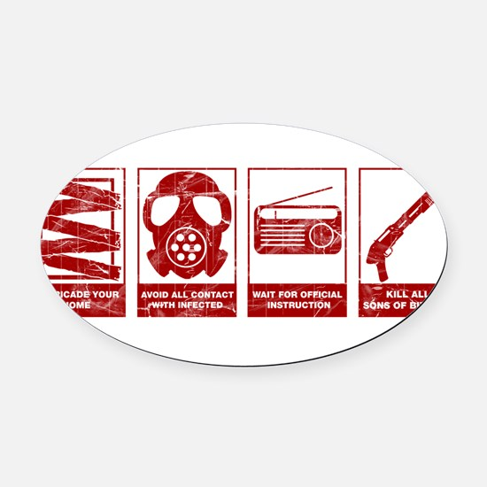 Video Oval Car Magnet