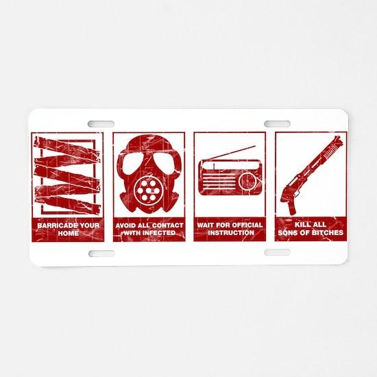 Unique Video games Aluminum License Plate