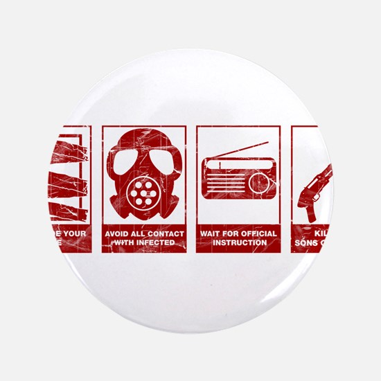 """Unique Zombie 3.5"""" Button (100 pack)"""