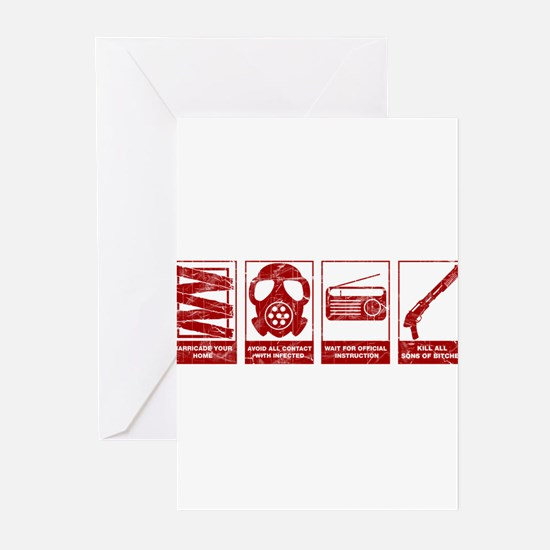 Funny Infection Greeting Cards (Pk of 10)