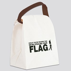 Capture The Flag Canvas Lunch Bag