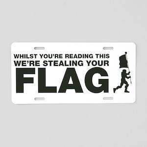 Capture The Flag Aluminum License Plate