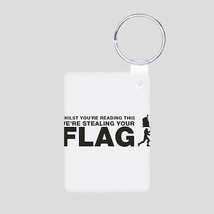 Capture The Flag Aluminum Photo Keychain