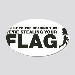 Capture The Flag 20x12 Oval Wall Decal