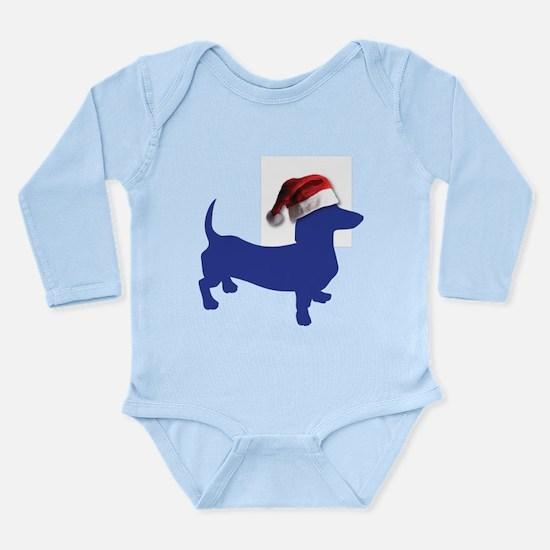 Christmas Blue Dachshund Body Suit