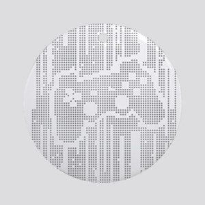 Dot Matrix Pad Ornament (Round)