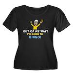 BINGO!! Women's Plus Size Scoop Neck Dark T-Shirt
