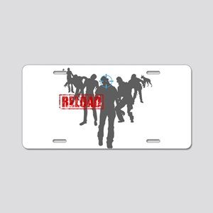 Kill The Zombies Aluminum License Plate