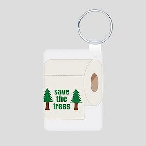 Save The Trees! Aluminum Photo Keychain