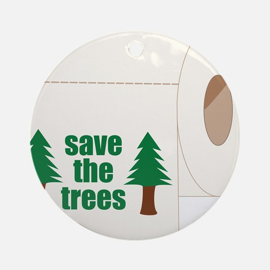 Save The Trees! Ornament (Round)