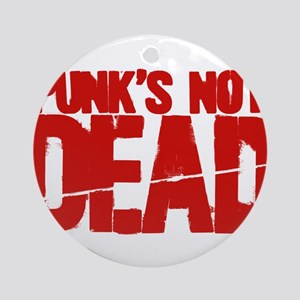 Punk's Not Dead Ornament (Round)