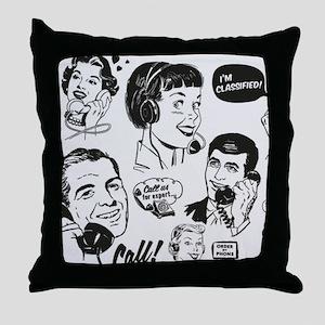 Woven Pillow Retro Phone Throw Pillow