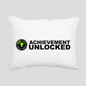 Achievement Unlocked Rectangular Canvas Pillow