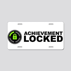 Achievement Locked Aluminum License Plate