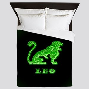 Leo Zodiac Symbol Queen Duvet