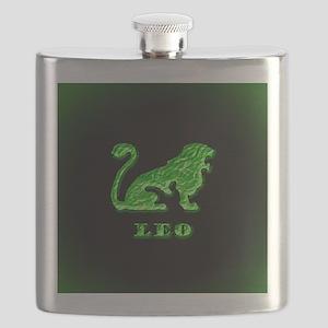 Leo Zodiac Symbol Flask