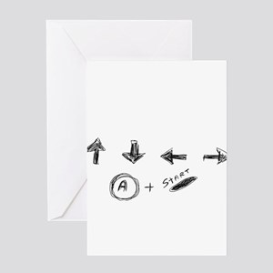 Cheat Code Greeting Card
