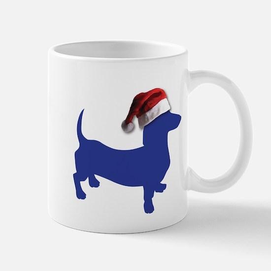 Christmas Blue Dachshund Mugs