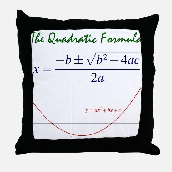 Quadratic Formula Throw Pillow