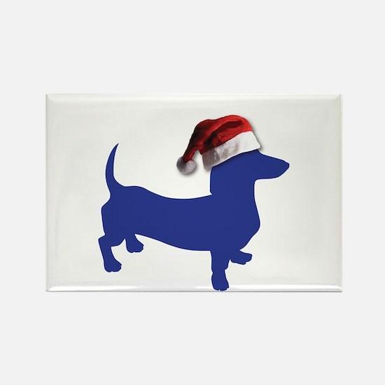 Christmas Blue Dachshund Magnets