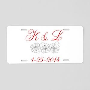 Personalized Initials dates Aluminum License Plate