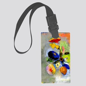 Odilon Redon floral painting: Fl Large Luggage Tag