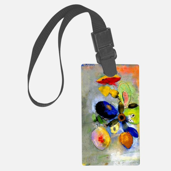 Odilon Redon floral painting: Fl Luggage Tag