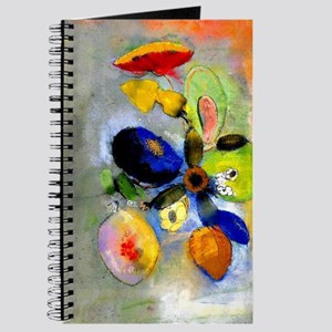 Odilon Redon floral painting: Flowers-3 Journal