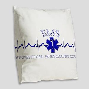 EMS Burlap Throw Pillow
