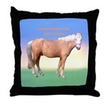 Throw Pillow, Curly Stallion