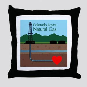 Colorado Loves Natural Gas Throw Pillow