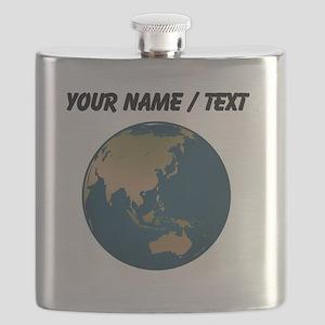 Custom Globe Facing Eurasia Flask