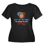 Out of my way! Women's Plus Size Scoop Neck Dark T