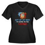 Out of my way! Women's Plus Size V-Neck Dark T-Shi