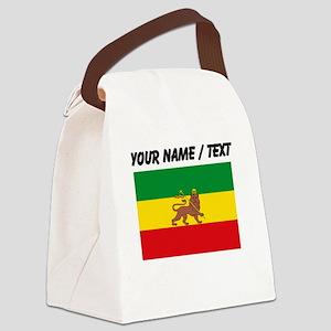 Custom Ethiopian Flag Canvas Lunch Bag
