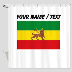 Custom Ethiopian Flag Shower Curtain