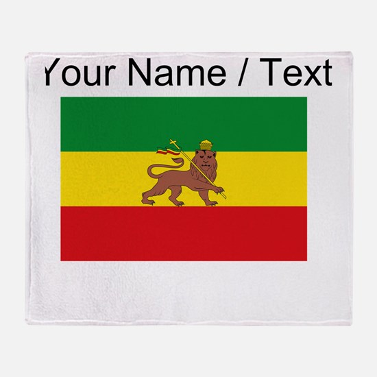 Custom Ethiopian Flag Throw Blanket