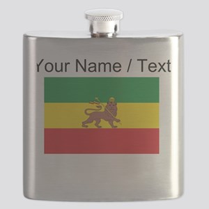 Custom Ethiopian Flag Flask