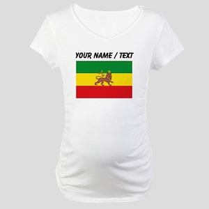 Custom Ethiopian Flag Maternity T-Shirt
